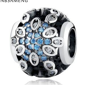 BlueStar pave charm bead.